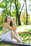 Beauty woman outdoor Royalty Free Stock Image