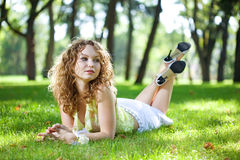 Beauty woman outdoor Royalty Free Stock Photography