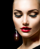 Beauty Woman. With Perfect Make up Stock Photography