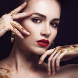 Beauty Woman with Perfect Makeup. Royalty Free Stock Image