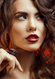 Beauty Woman with Perfect Makeup Beautiful Stock Images