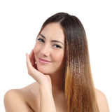 Beauty woman with perfect skin and dyed hair Royalty Free Stock Image