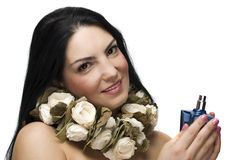Beauty woman with perfume Royalty Free Stock Image