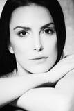 Beauty woman portrait bw Royalty Free Stock Photo