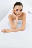 Beauty Woman Portrait. Spa Face, Clean Skin. Body Care Concept. Royalty Free Stock Photos
