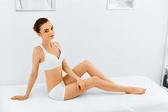 Beauty Woman Portrait. Spa Face, Clean Skin. Body Care Concept. Stock Photo