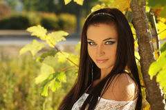 Beauty woman portrait of teen girl beautiful Royalty Free Stock Images