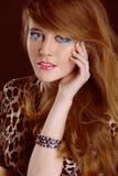 Beauty woman portrait of teen girl beautiful Stock Photos