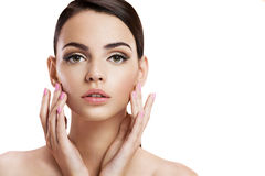 Beauty woman portrait of teen girl with clean skin Royalty Free Stock Photo