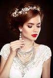 Beauty woman portrait. Wedding Hairstyle. Beautiful fashion brid Stock Images