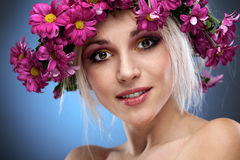 Beauty woman portrait with wreath Royalty Free Stock Photo