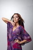 Beauty woman posing in indian dress Stock Photos