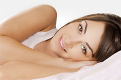 Beauty woman relaxing Royalty Free Stock Photography