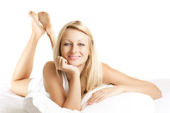 Beauty woman relaxing Stock Image