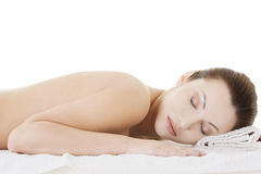 Beauty woman relaxing in spa Royalty Free Stock Photos