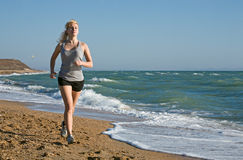 Beauty woman run Stock Images