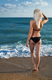 Beauty woman on sea Stock Image