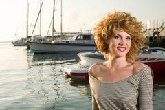 Beauty woman on sea Royalty Free Stock Photos