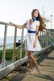 Beauty woman on sea Stock Photo