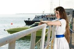 Beauty woman on sea Stock Image