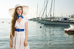 Beauty woman on sea Stock Photo