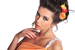 Beauty woman with seductive look Royalty Free Stock Image