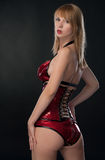 Beauty woman in sexy clothing Royalty Free Stock Photos