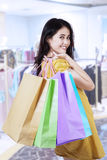 Beauty woman with shopping bags Stock Photography