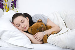 Beauty woman sleeping Stock Image