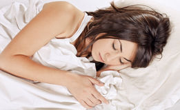 Beauty woman sleeping Royalty Free Stock Photos