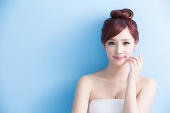 Beauty woman smile to you Royalty Free Stock Photo