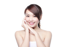 Beauty woman smile to you Royalty Free Stock Image