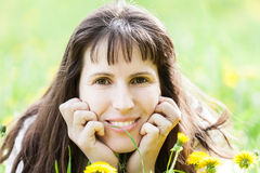 Beauty woman smiling Stock Photo