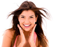 Beauty woman smiling Stock Photos