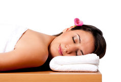 Beauty woman in spa stock photography