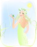 Beauty woman & spring garden Stock Photography