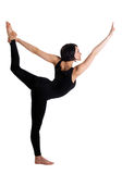 Beauty woman stand in yoga asana - Dancer Pose Stock Photos