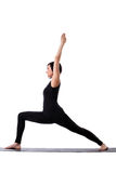 Beauty woman stand in yoga pose isolated Stock Photography