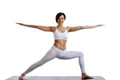 Beauty woman stand in yoga pose isolated Stock Photo