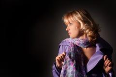 Beauty woman studio shoot Stock Images