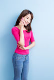 Beauty woman talk on phone Royalty Free Stock Image