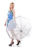 beauty woman with umbrella Stock Image