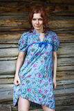 Beauty woman in vintage dress Royalty Free Stock Photos