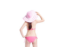 Beauty woman wear bikini Stock Photos