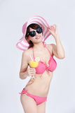 Beauty woman wear bikini happily Stock Image