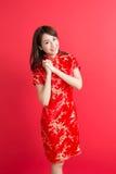 Beauty woman wear cheongsam Stock Image