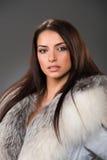 Beauty woman wearing fur Royalty Free Stock Photo