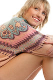 Beauty woman wearing sweater Royalty Free Stock Photography