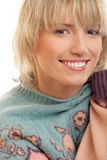 Beauty woman wearing sweater Stock Photography