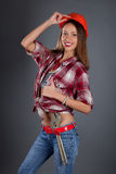Beauty woman worker portrait Royalty Free Stock Photo
